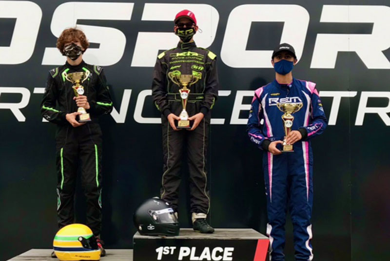 One of Many Podiums For Cowden & Maddox