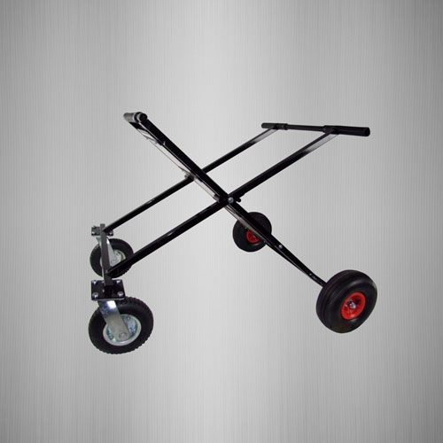 Black Go Kart Stand with Red Wheels